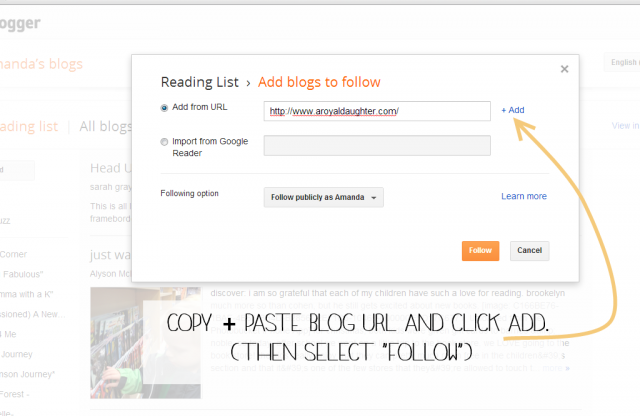 How to Subscribe via Blogger1