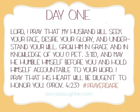 Prayer Dare Day One