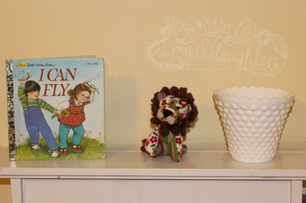 Cute shelf with little golden book