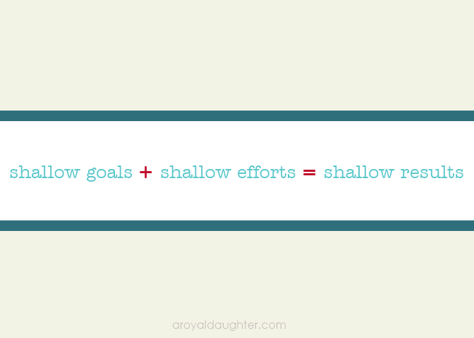 Goals Efforts and Results