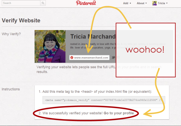 How to Verify Pinterest Blogger