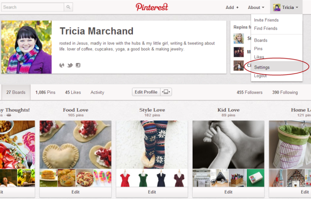 How to Verify Pinterest in Blogger