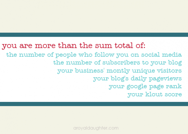 You are More than the sum total of