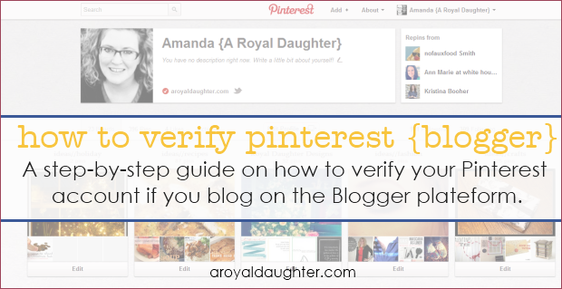 How to Verify Pinterest - Blogger