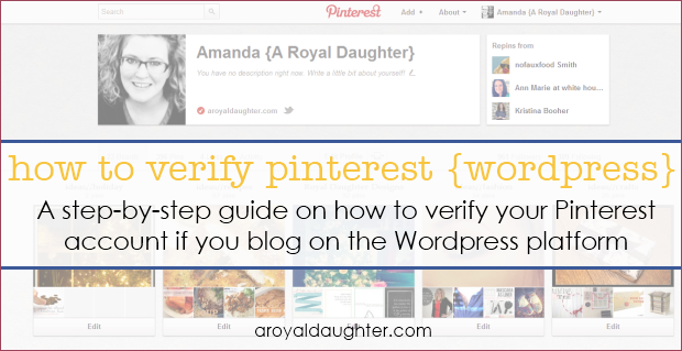 How to Verify Pinterest - WordPress