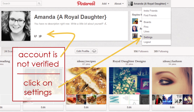 How to Verify Pinterest on WordPress Blog