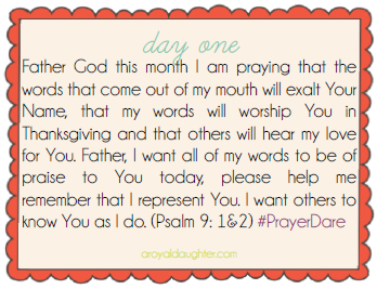 Prayer Dare March Day 1