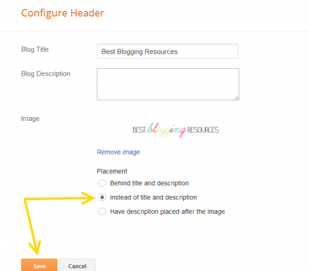How to Add a custom Header in Blogger