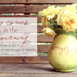 Joy comes in the mourning - finding joy and peace in the midst of miscarriage and infertility