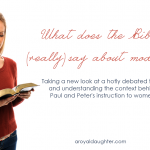 What does the Bible say about Modesty - via A Royal Daughter