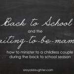 Back to School and the waiting-to-be-mama