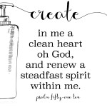 Psalm 51 10 Printable aroyaldaughter.com