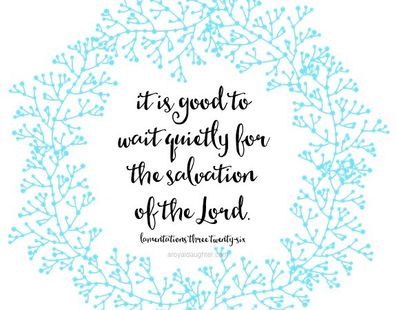 truth for your sunday | lamentations 3:26